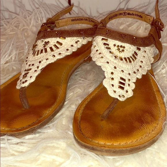 Not Rated Other - Girl's Not Rated Cloth and Beaded Sandals Size 6